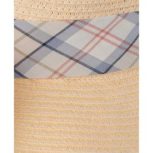 Barbour Ladies Lorne Tartan Fedora Cream