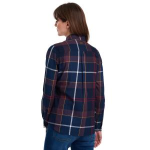 Barbour Ladies Moorland Shirt Navy Check
