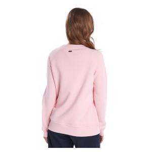 Barbour Ladies Otterburn Overlayer Sweater Carnation