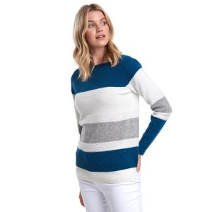 Barbour Ladies Oyster Knit Sweater Off White
