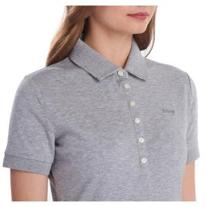 Barbour Ladies Portsdown Top Light Grey Marl