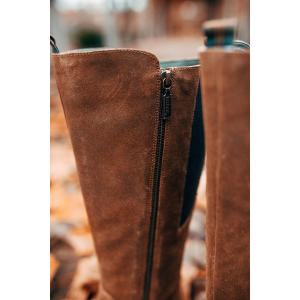 Barbour Ladies Rebecca Knee Boots Brown Suede