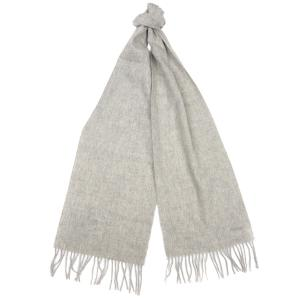 Barbour Lambswool Woven Scarf Light Grey Melange