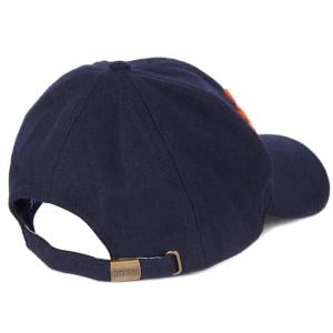 Barbour Lanton Sports Cap Navy/Orange