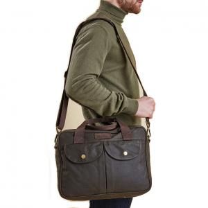 Barbour Longthorpe Laptop Bag Olive