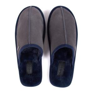 Barbour Mens Malone Slippers Grey Suede