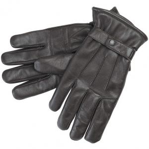 Barbour Mens Burnished Leather Thinsulate Gloves Dark Brown