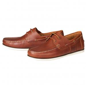 Barbour Mens Capstan Boat Shoes Cognac