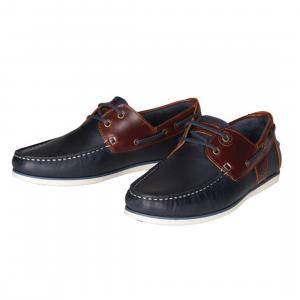 Barbour Mens Capstan Boat Shoes Navy/Brown
