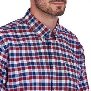 Barbour Mens Country Check 15 Regular Shirt Rich Red