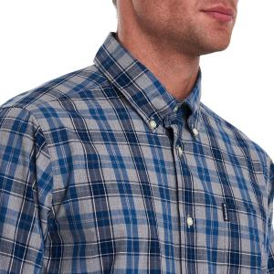 Barbour Mens Country Check 1 Tailored Shirt Blue