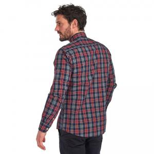 Barbour Mens Country Check 1 Tailored Shirt Navy