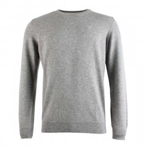 Barbour Mens Essential Lambswool Crew Neck Sweater Grey Marl