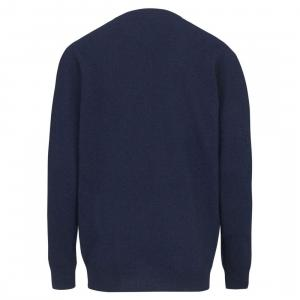 Barbour Mens Essential Lambswool V Neck Sweater Deep Blue