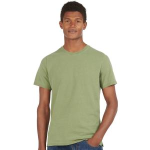 Barbour Mens Garment Dyed Tee Light Moss