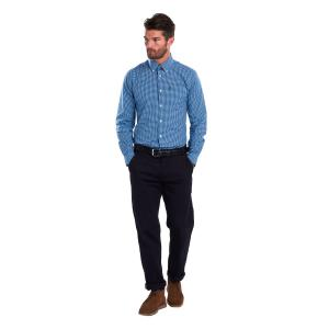 Barbour Mens Gingham 2 Tailored Shirt Navy