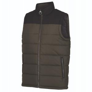 Barbour Mens Hamill Bodywarmer II Gilet Dark Khaki/Black