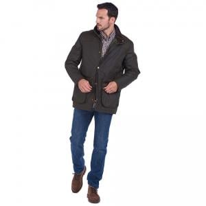 Barbour Mens Harlington Wax Jacket Olive