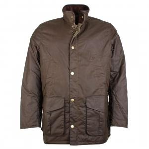 Barbour Mens Hereford Wax Jacket Peat