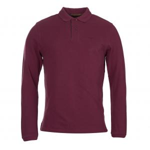 Barbour Mens Long Sleeved Sports Polo Merlot