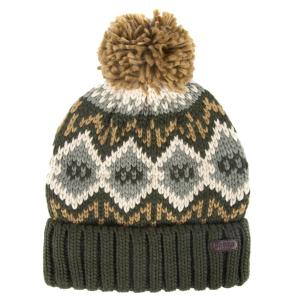 Barbour Mens Malton Beanie Forest Green/Trench