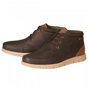 Barbour Mens Nelson Boots Brown
