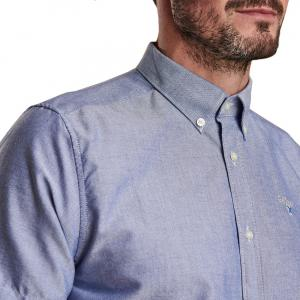 Barbour Mens Oxford 3 Short Sleeved Shirt Indigo