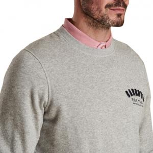 Barbour Mens Preppy Crew Neck Sweater Grey Marl