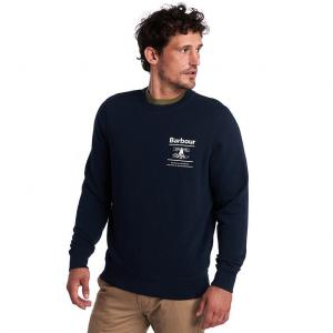Barbour Mens Reed Crew Sweatshirt Navy