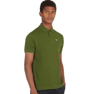 Barbour Mens Sports Polo Rifle Green