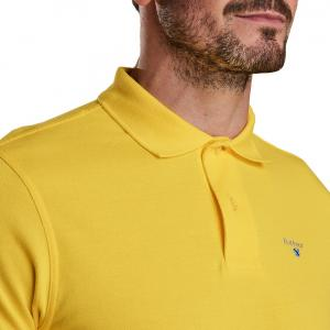 Barbour Mens Sports Polo Shirt Empire Yellow