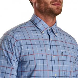 Barbour Mens Tattersall 1 Tailored Shirt Red