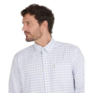 Barbour Mens Tattersall 23 Regular Fit Shirt Blue