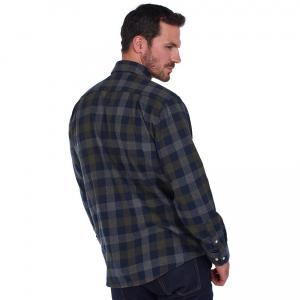 Barbour Mens Westoe Shirt Navy