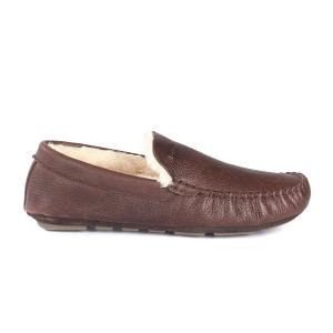 Barbour Monty Slippers Dark Brown