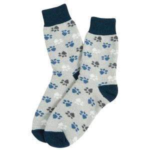 Barbour Paw Boot Sock Grey/Blue