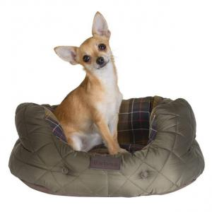Barbour Quilted Dog Bed Olive