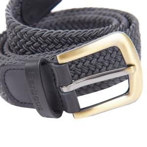 Barbour Stretch Webbing Belt Charcoal