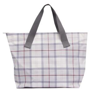 Barbour Printed Shopper Platinum Tartan