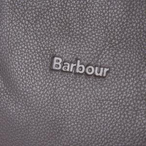 Barbour Witford Leather Tote Dark Brown