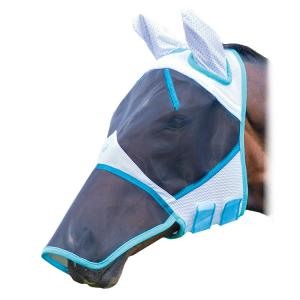 Bridleway Bug Stoppa Fly Mask with Nose White/Blue