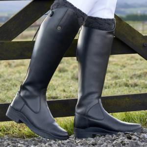 Brogini Ladies Modena Synthetic Dress Riding Boots Black