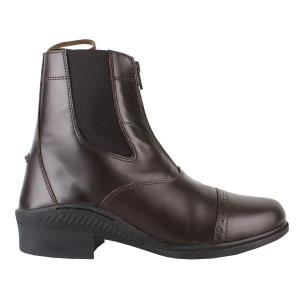 Brogini Ladies Tivoli Front Zip Jodhpur Boots Brown