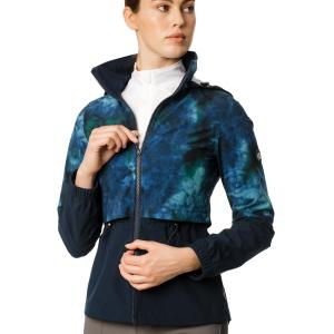 Horseware® Ladies Carrie Riding Jacket Green/Navy Tie Dyed