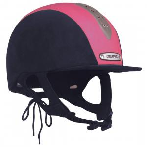 Champion Junior X-Air Plus Riding Hat Navy/Pink