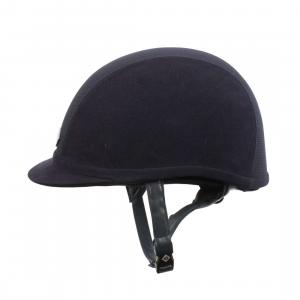 Charles Owen Junior V8 Riding Hat Navy/Silver