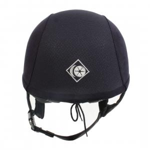 Charles Owen Adults V8 Riding Hat Navy/Silver