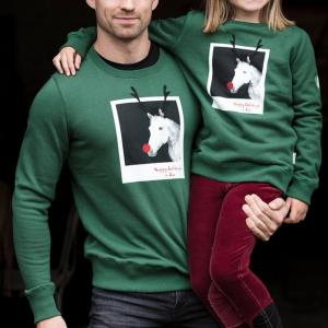 Horseware® Childs Christmas Jumper Green