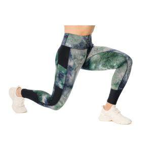 Horseware® Ladies Riding Tights Green/Navy Tie Dyed