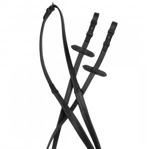 Collegiate Flexi Grip Reins Black